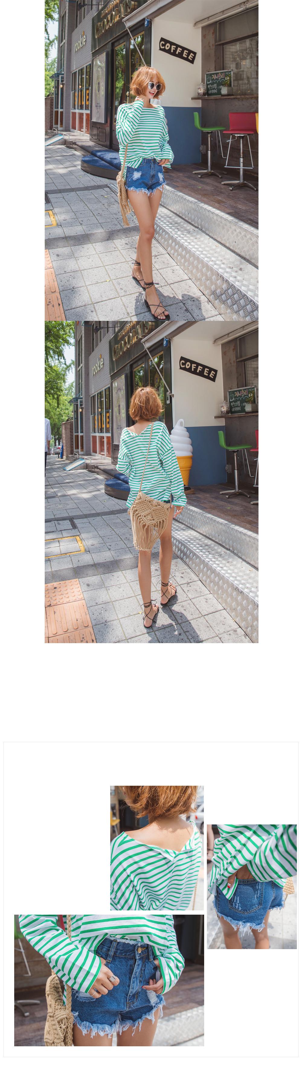[ VIVIDNCO ] Naintin striped top