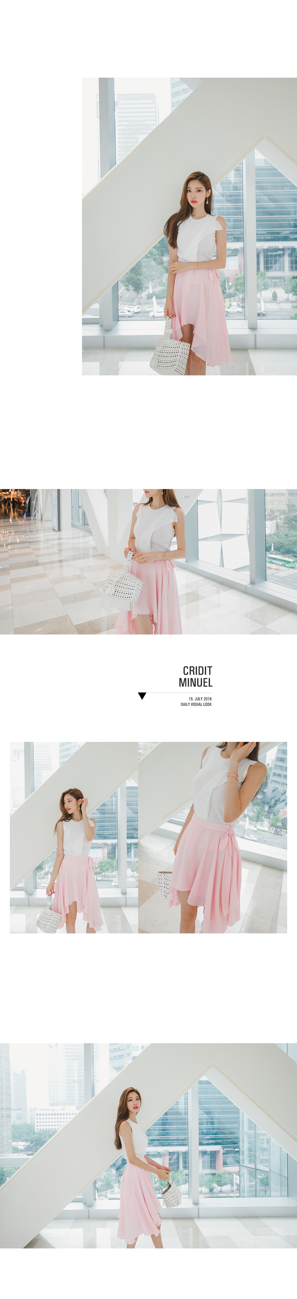 [ VIVIDNCO ] Credit ruffle sleeveless